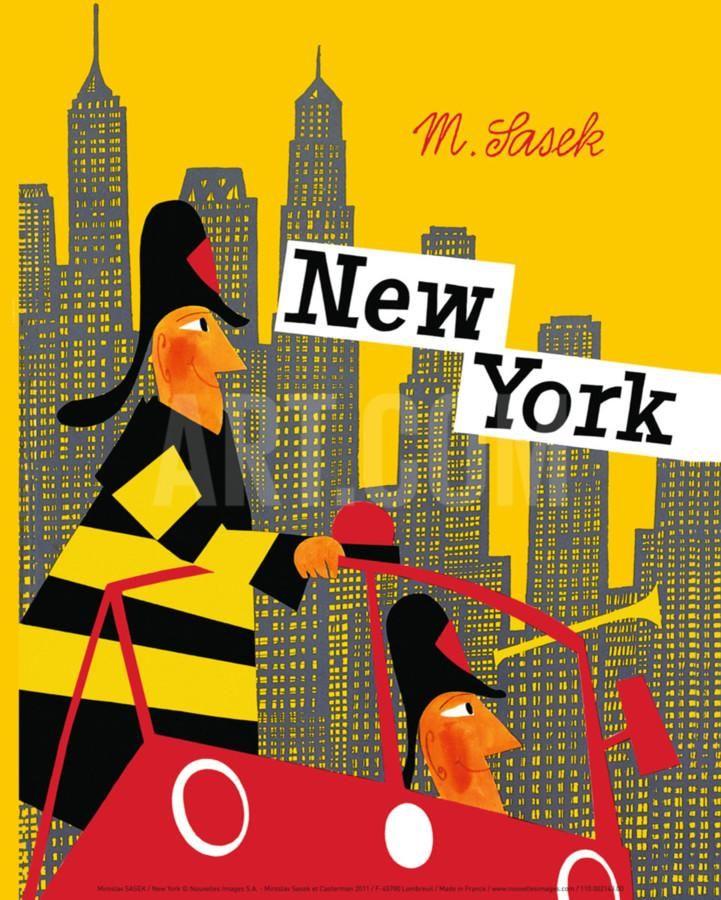 New York Art Print Miroslav Sasek Art Com In 2021 Picture Book New York Art New York