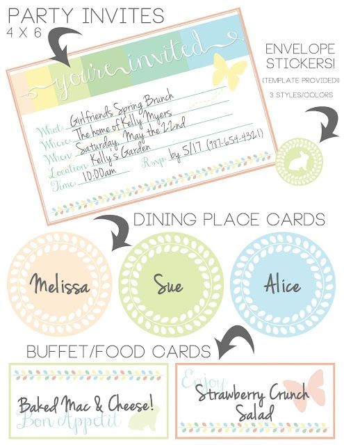 party invites free printable DIY and crafts Pinterest Free