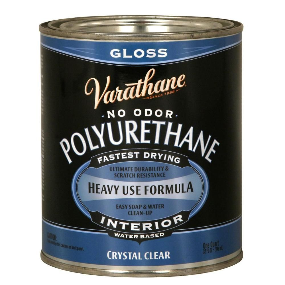Varathane 1 Qt Clear Gloss Water Based Interior Polyurethane 2 Pack 200041h Painting Ceramic Tiles Painting Countertops Paint Furniture