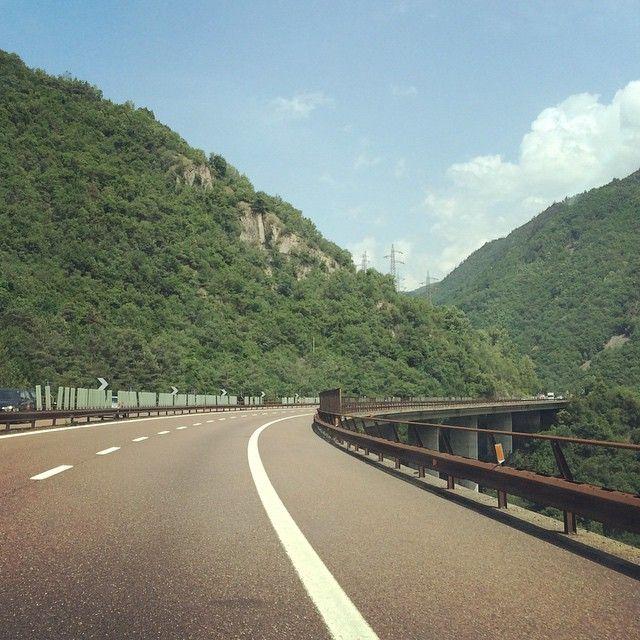 Autobahn Oder Alte Brennerstrasse Nach Italien Italien Country