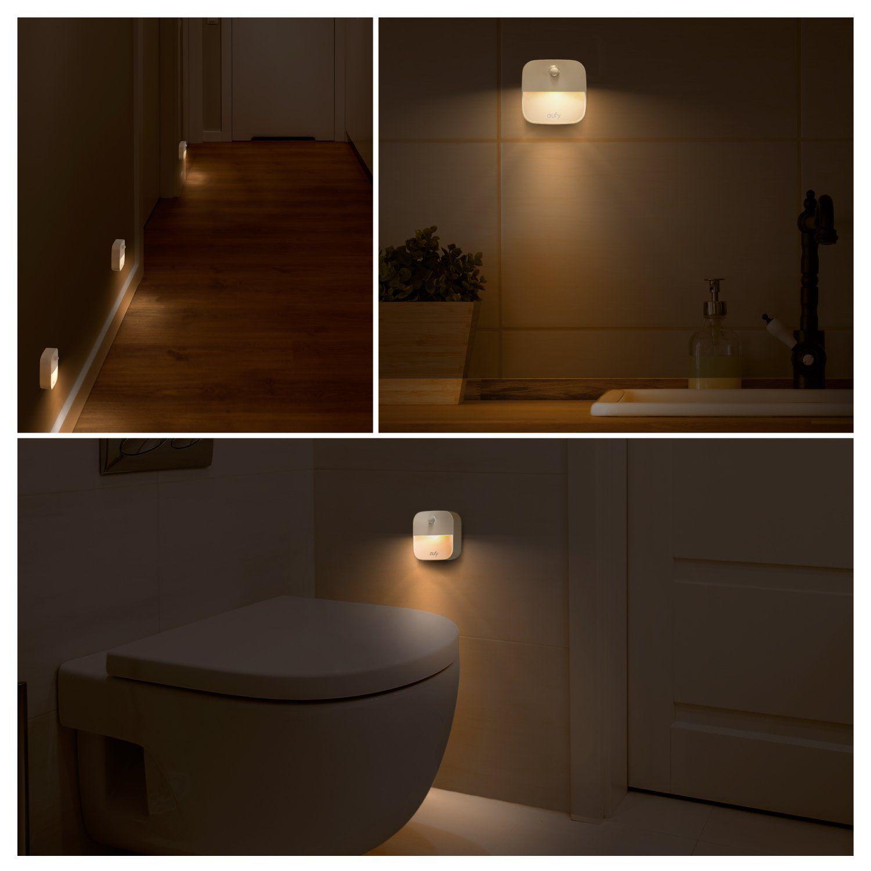 Eufy Lumi Stickon Night Light Warm White Led Motion Sensor Stickanywhere Closet Light Wall Light For Bedroom Ba Night Light Sensor Night Lights Closet Lighting