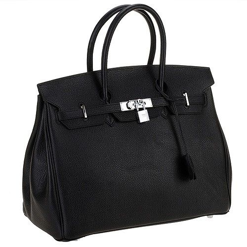 Hermes Birkin Bag Black - A fashionable leather handbag suitable for all-purpose  use. This Hermes work bag offers extra safety with its fancy flip over ... c37756cbedb57