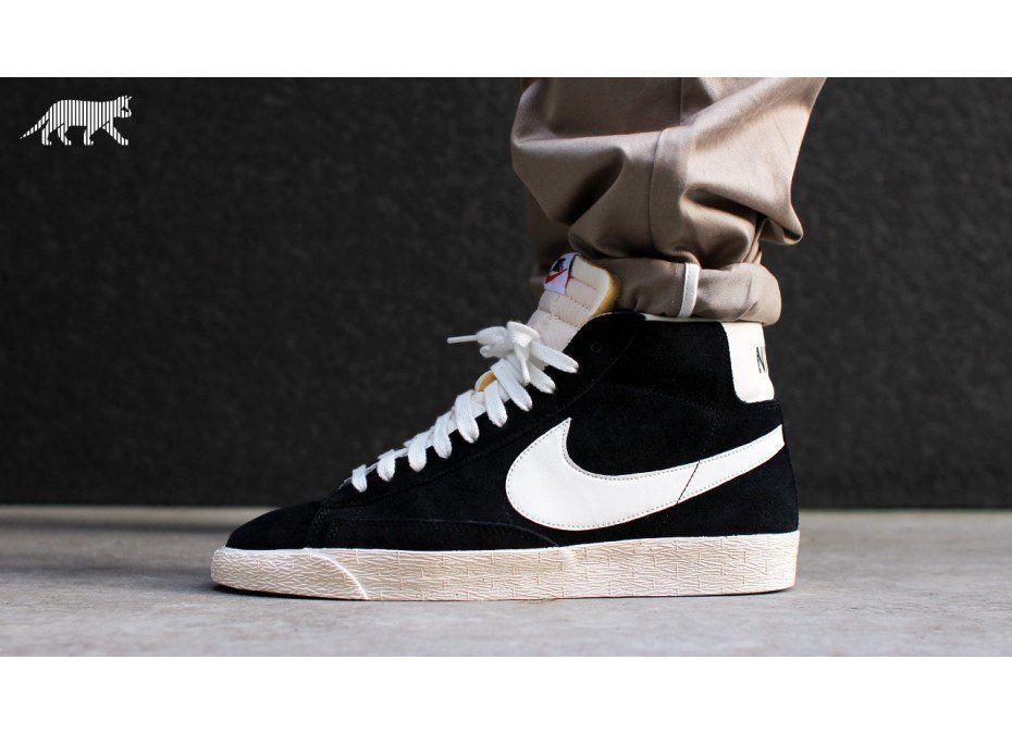 pretty cool great fit incredible prices Nike Blazer high vintage nd suede (schwarz weiss) | Schwarz ...