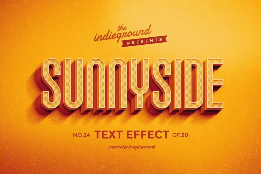 Retro Vintage Text Effect N 24 Indieground Design In 2020 Retro Text Vintage Text Text Effects