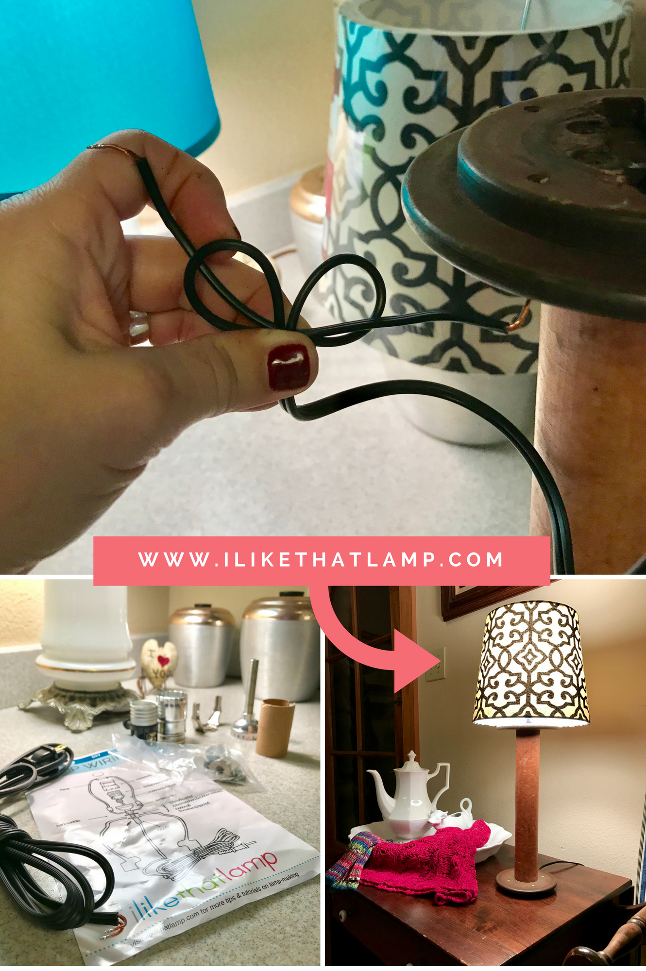 How to wire an old wool spool and give it a new life as a lamp geotapseo Image collections