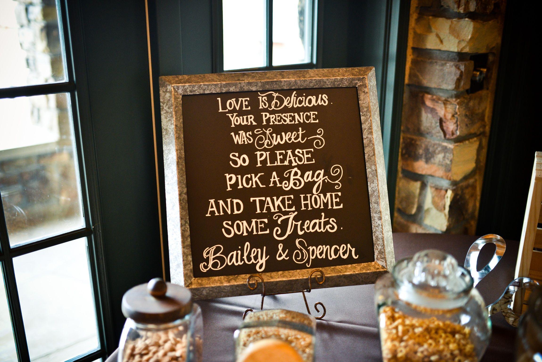 Wedding favor chalkboard trail mix bar | Wedding | Pinterest | Trail ...