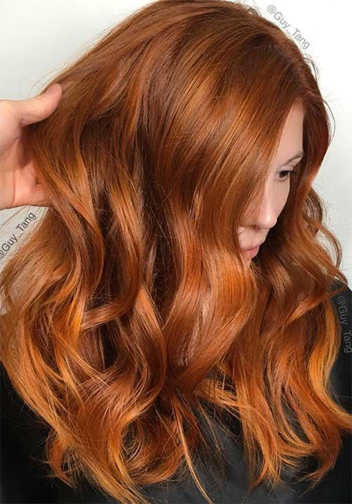 100 Badass Red Hair Colors: Auburn, Cherry, Copper, Burgundy Hair ...