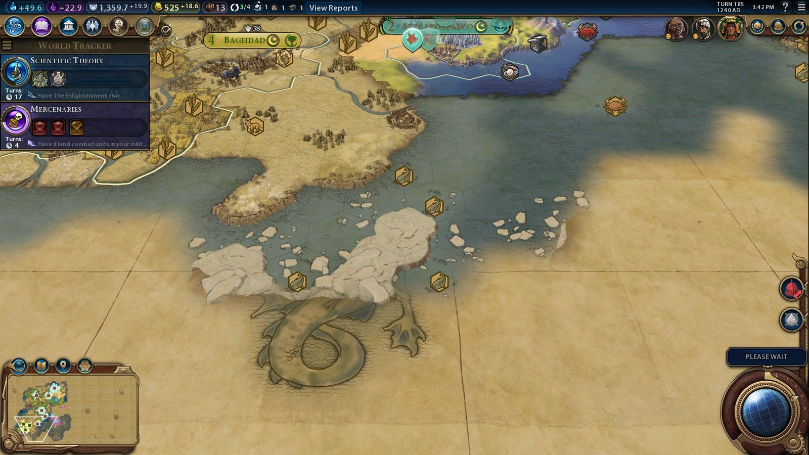 The sea creature on my map turned out to be made of stone #CivilizationBeyondEarth #gaming #Civilization #games #world #steam #SidMeier #RTS