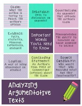 argumentative essay vocabulary