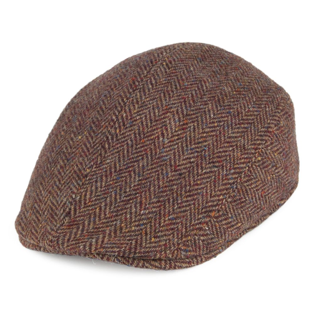 796016030 Crambes Hats Tweed Ascot Hat - Brown-Burgundy from Village Hats ...
