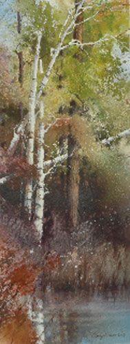 """Cindy Baron """"Seasons II"""" watercolor"""
