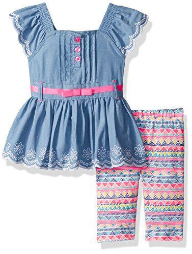 763cd375253b Little Lass Baby Girls 2 Pc Skimmer Set Chambray 18M    Read more ...
