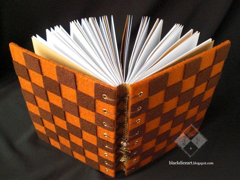 "NFL002-Notebook Flanel Handmade Motif Kotak-Kotak Coklat ""Coffee Cake"" | toko online: blackdiceart.blogspot.com"