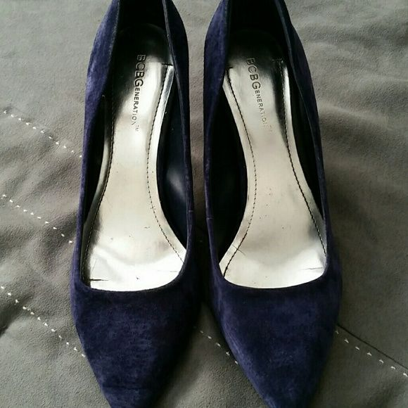 Blue suede pumps BCBG Generation, navy blue, suede pumps. BCBGeneration Shoes Heels
