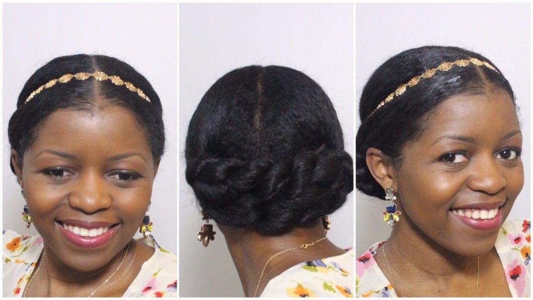 Elegant Twisted Bun By Misst1806 Natural Wedding Hairstyles Natural Hair Styles Hair Styles