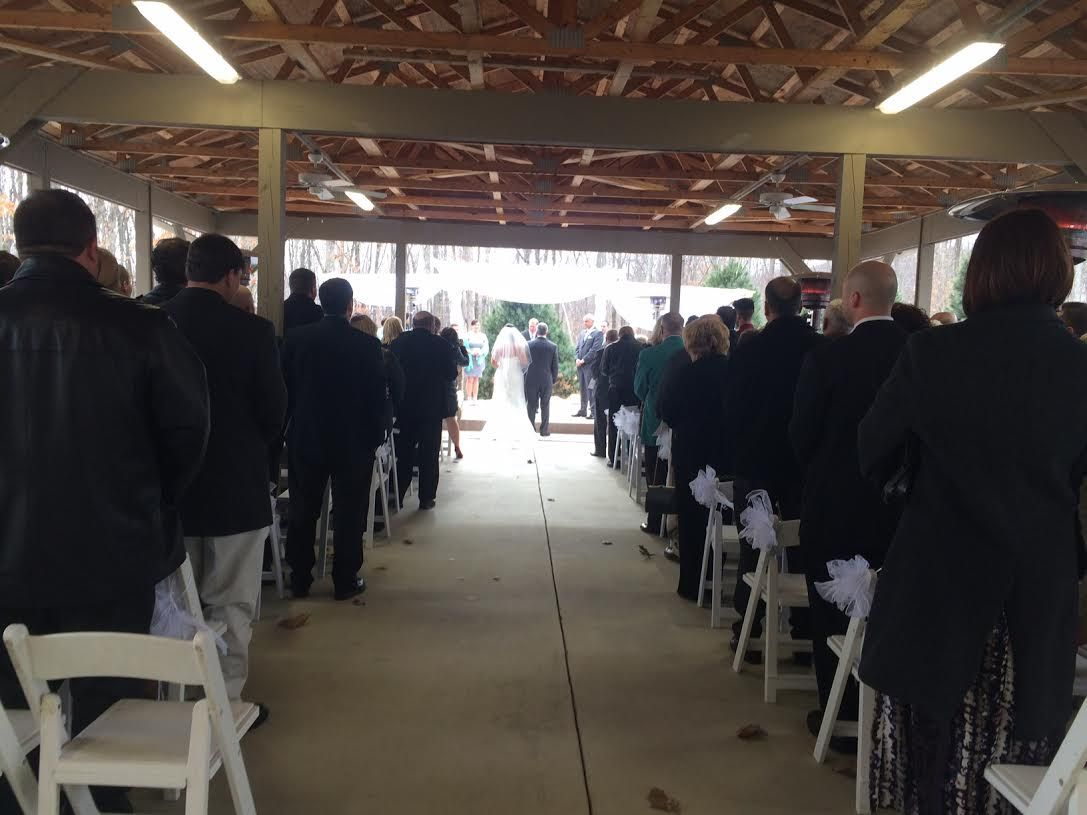 The first onsite ceremony in the Gardens at Sand Springs in March 2015