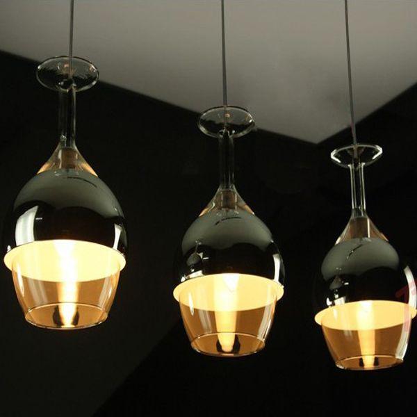 moderne bar tasse en verre pour lustres suspendu clairage. Black Bedroom Furniture Sets. Home Design Ideas