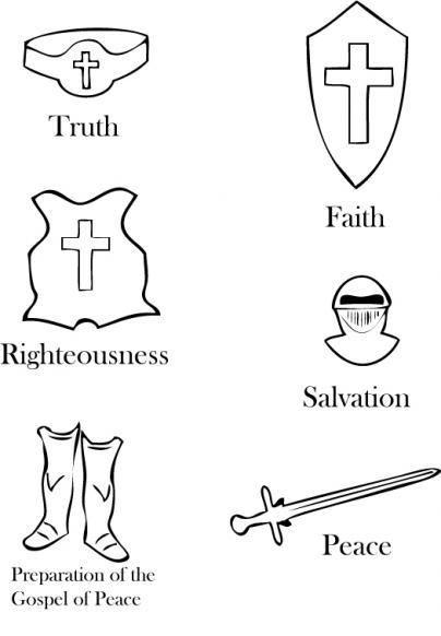 armor_of_god_coloring_page   armadura de Dios, Escuela dominical y ...