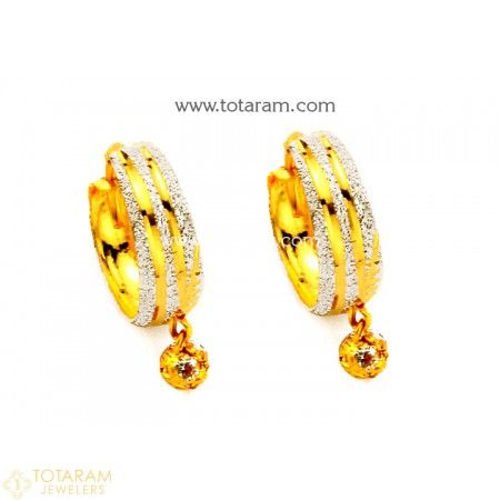 Gold Hoop Earrings Ear Bali In 22k 235 Ger7781 This Latest Indian Jewelry Design 2 800 Grams For A Low Price Of 187 60