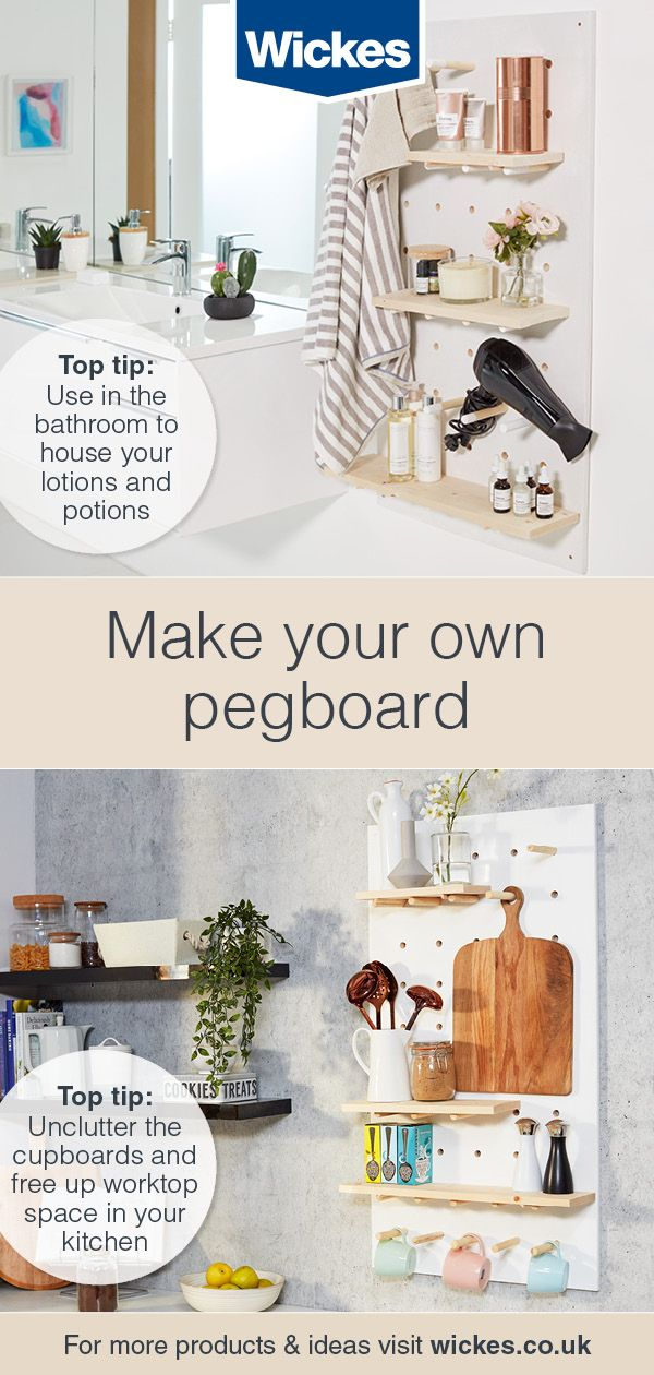 Build your own peg board storage - Ideas & Advice