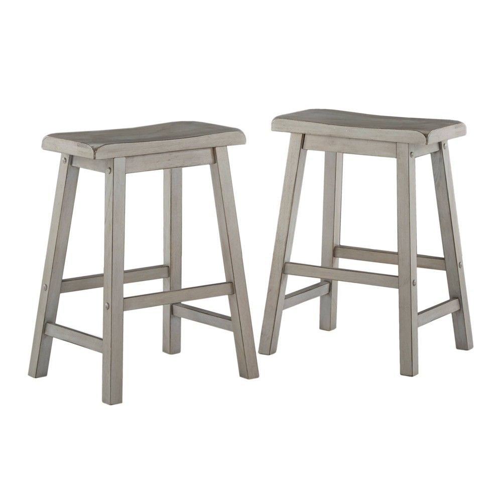 24 Set Of 2 Chimney Hill Saddle Counter Stool Red Inspire Q