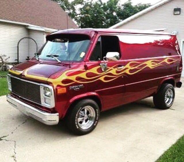 Customized Chevy Van.