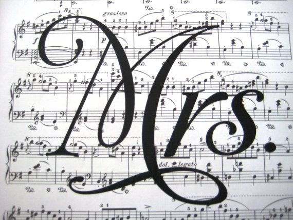 Mrs Print  Wedding Vintage Sheet Music Print  by SpecialThingsShop, $6.00