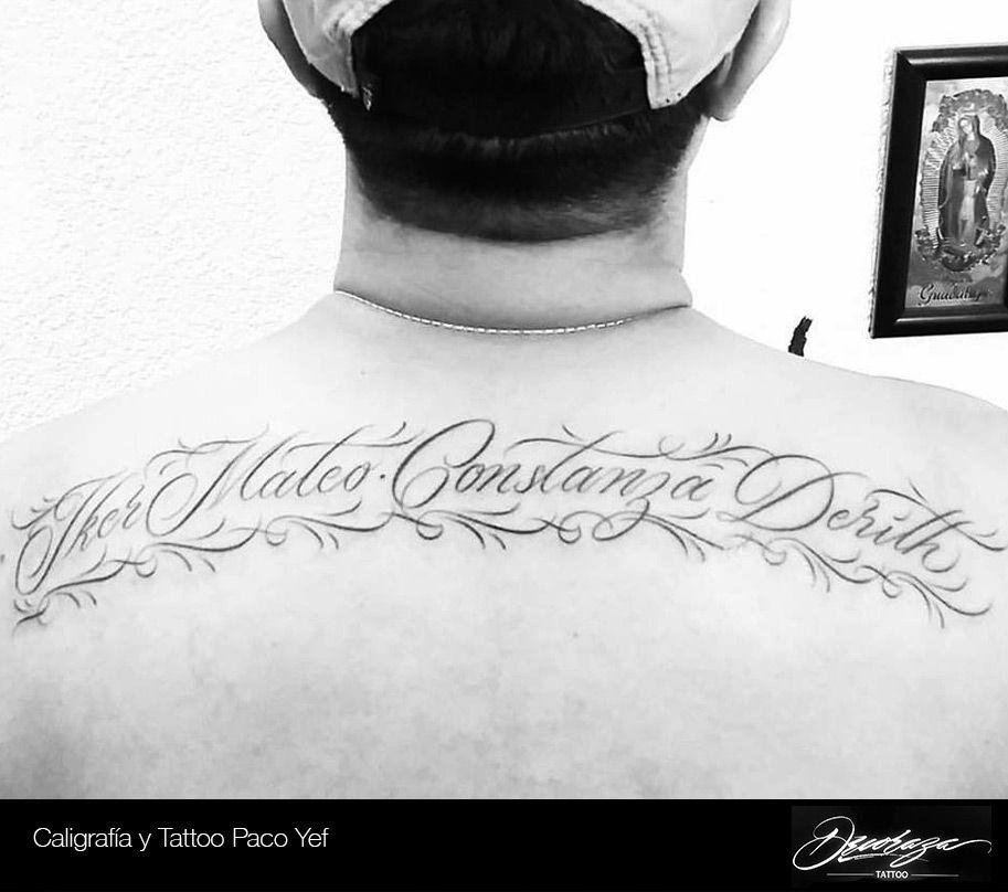 Iker Mateo Constanza Derith Cual Es El Tuyo Pacoyef Caligrafia Tattoo Tatuajes Ink Nombres Names Deco Tatuar Corazones Mensajes