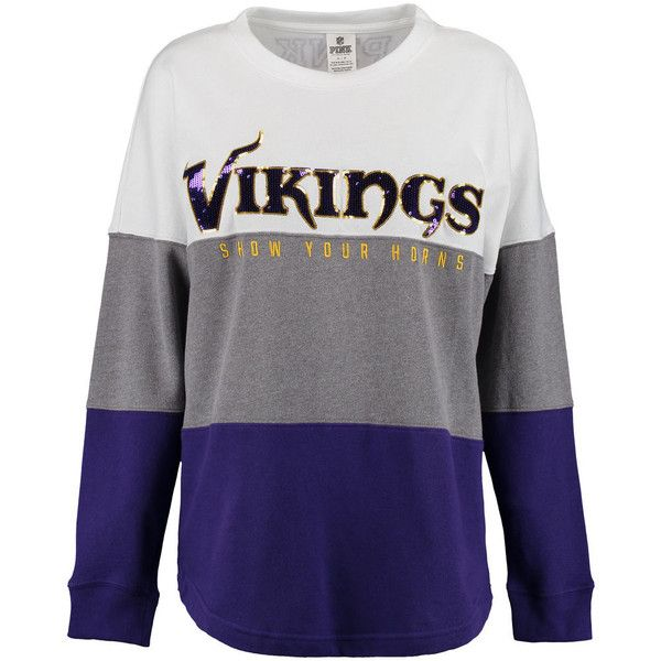 Women s Minnesota Vikings PINK by Victoria s Secret Purple Gray White...  ( 70) ❤ liked on Polyvore featuring tops c13b4bf60