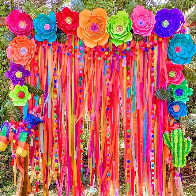 Streamer Backdrop, Fringe Backdrop, Rainbow Party Decorations, Rainbow Backdrop, Rainbow Birthday, Party Animal, Photo Booth, Dessert Table