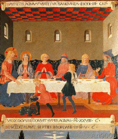 Alesso Baldovinetti Die Hochzeit Zu Kana 93 0 X 110 0 Cm Italian Painters Art Artist