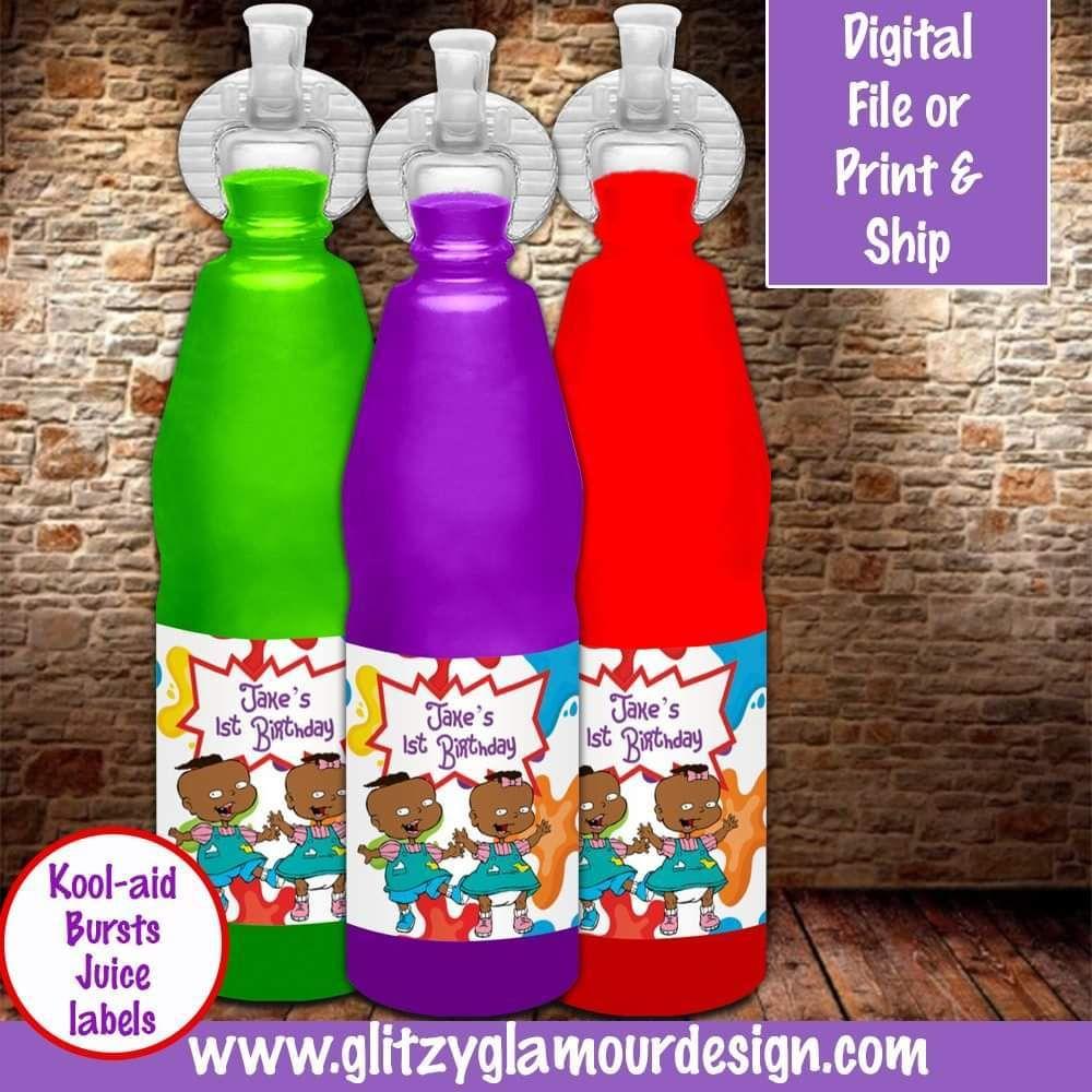 African American Rugrats Kool Aid Bursts Juice 1st Birthday Party Themes Rugrats Kool Aid