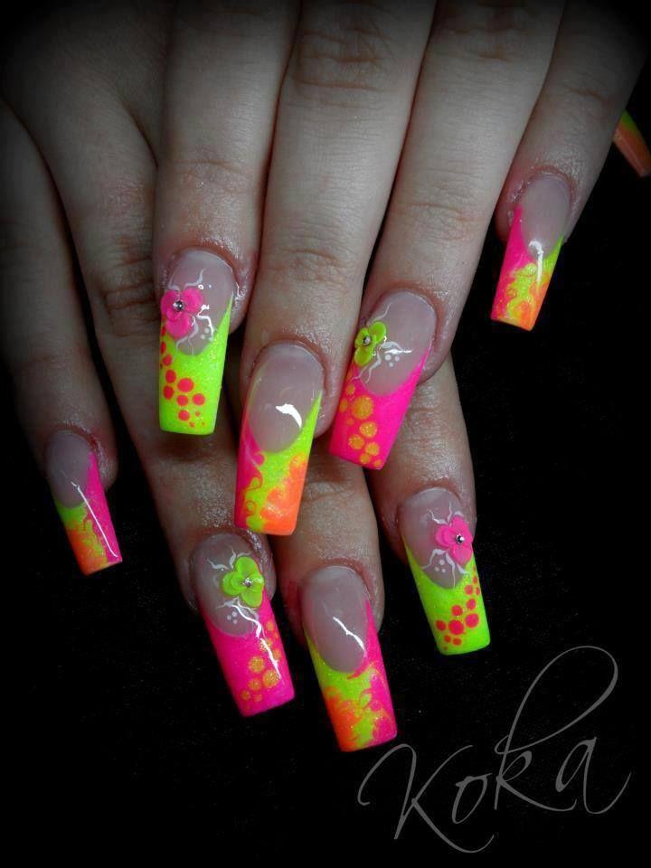 Pin By Keilah Johnson On Acrylic Nail Shop Nail Art Summer Pink Gel Nails Airbrush Nails