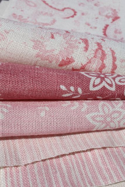 Sophisticated Country Soft Creamy Pinks And Rose Colours Love This Linens And Lace Pink Fabric Linen Fabric