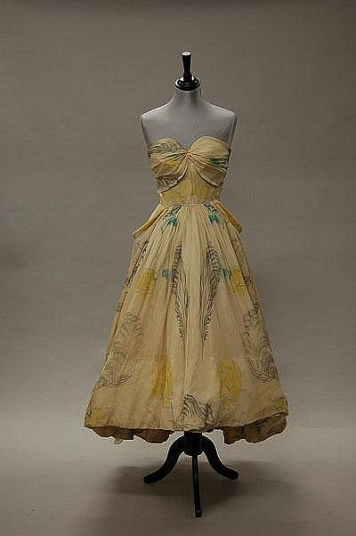 rare Mad Carpentier ball gown, late 1940s,