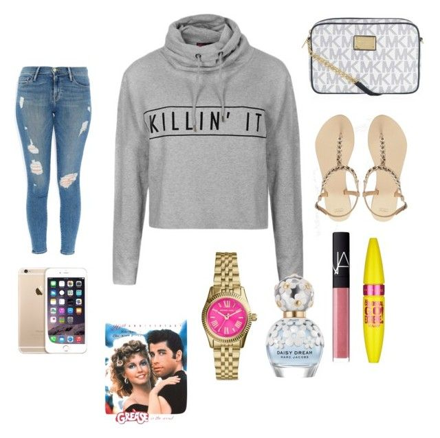 """""""90's babe."""" by biancac123ortes2000 ❤ liked on Polyvore featuring mode, Ally Fashion, Frame Denim, MICHAEL Michael Kors, ASOS, NARS Cosmetics, Marc Jacobs en Maybelline"""