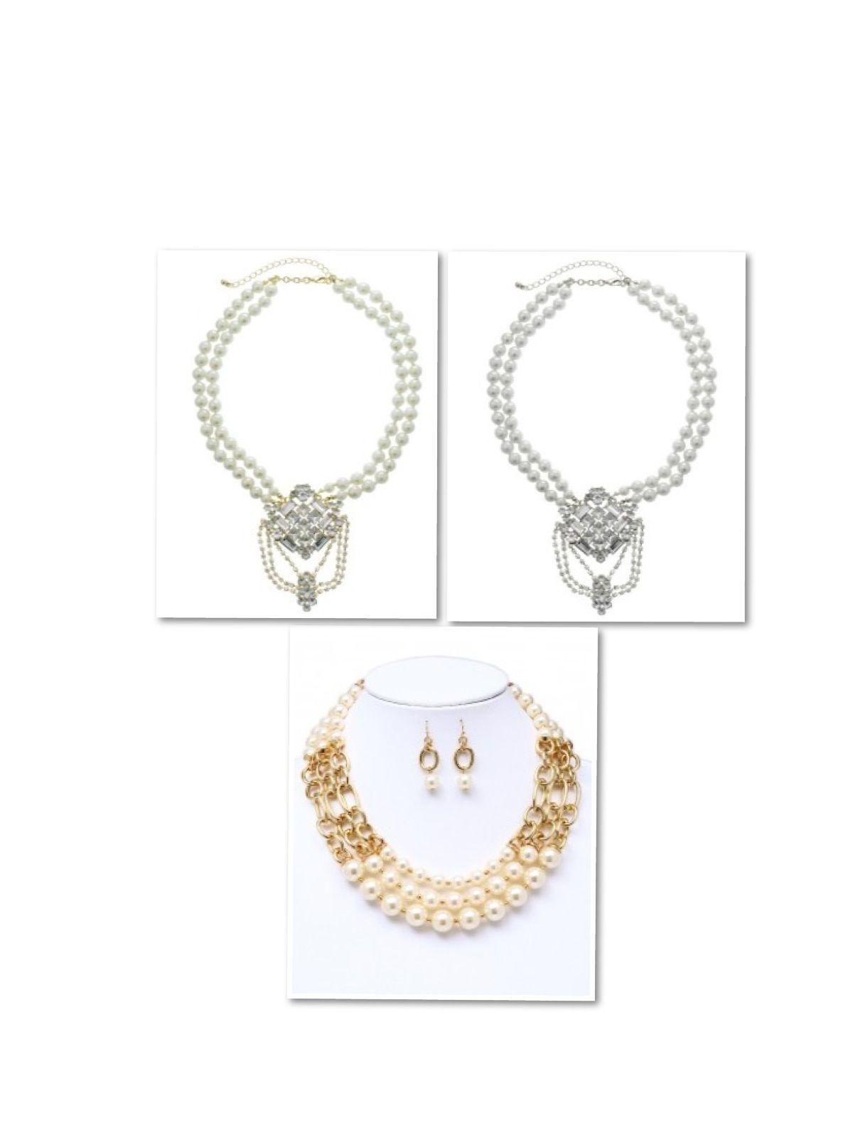 Dmonaco designs jewelry selection necklaces pearls designer