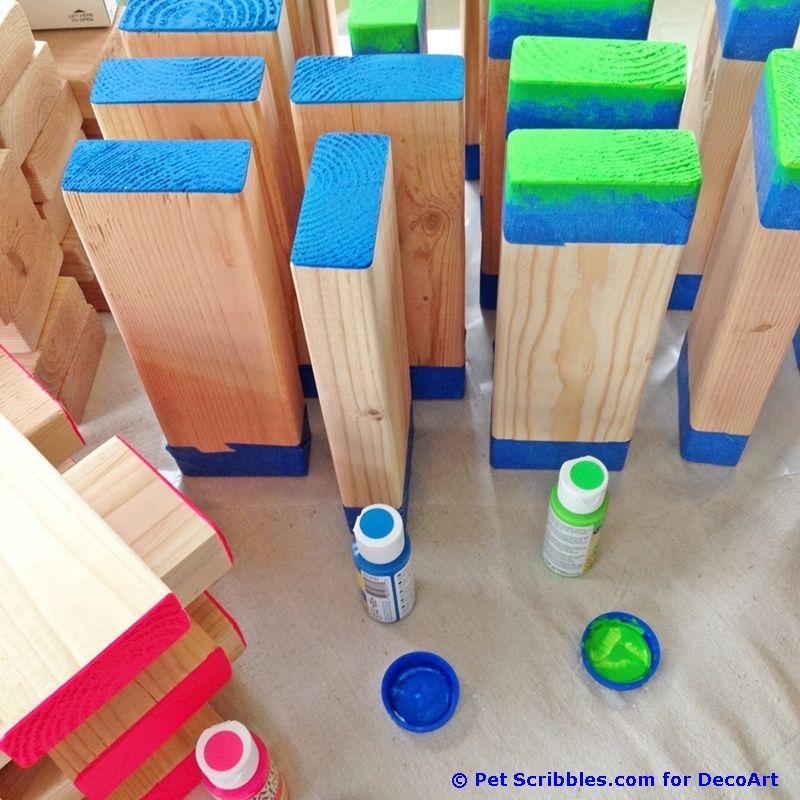 How to make a colorful outdoor giant Jenga game! | Jenga ...