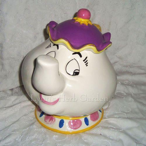 Treasure Craft Cookie Jar Mrs Potts Disney Beauty The Beast