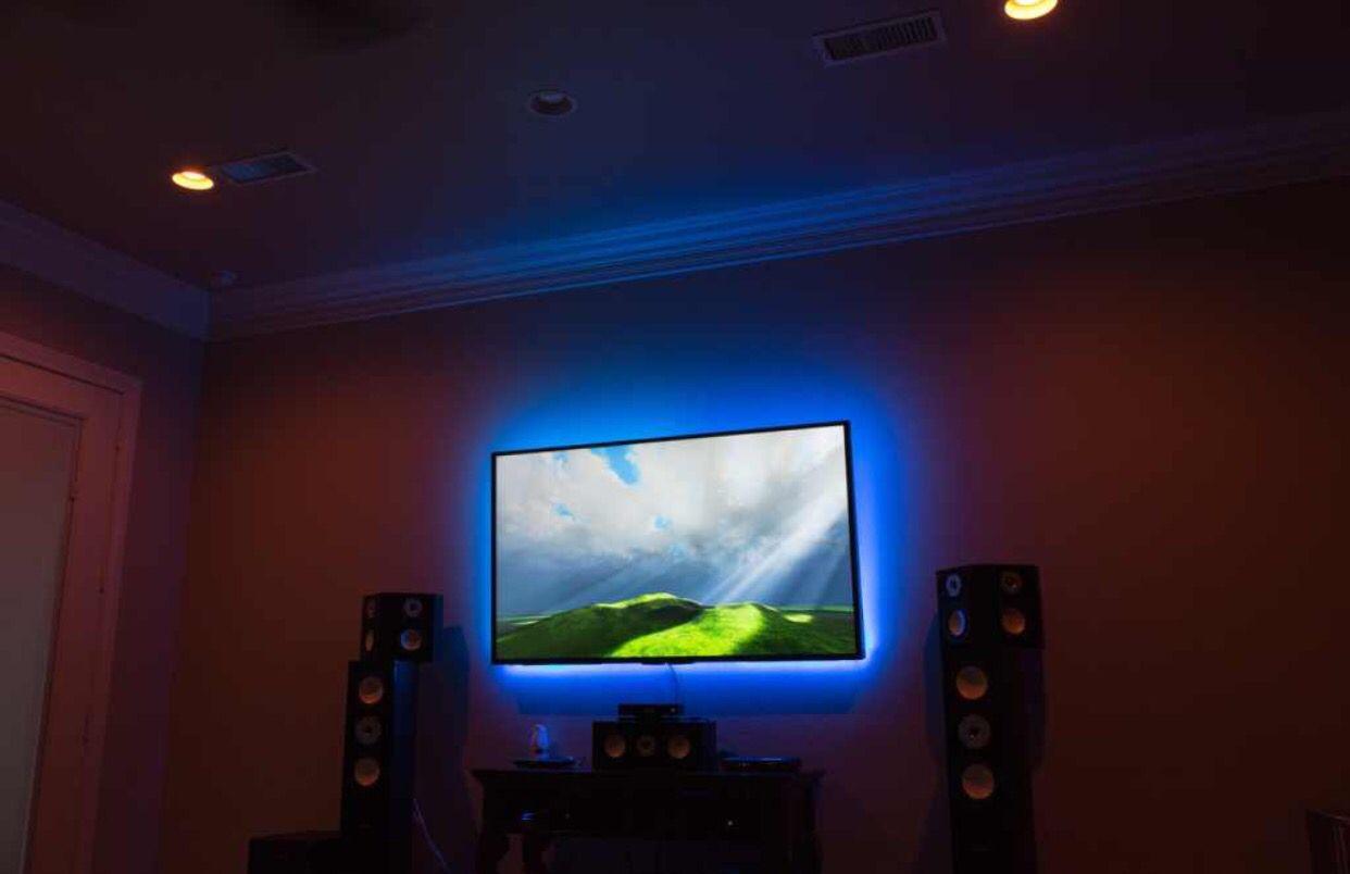 hue lighting ideas. Back Lit Tv Phillips Hue Lights. Lighting Ideas