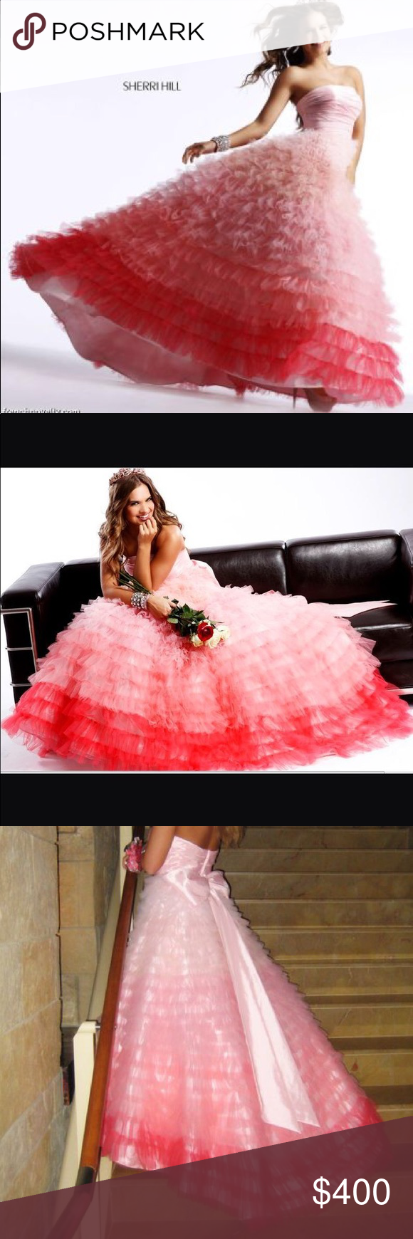 Sherri hill ombré gown dress prom ball gowns and prom