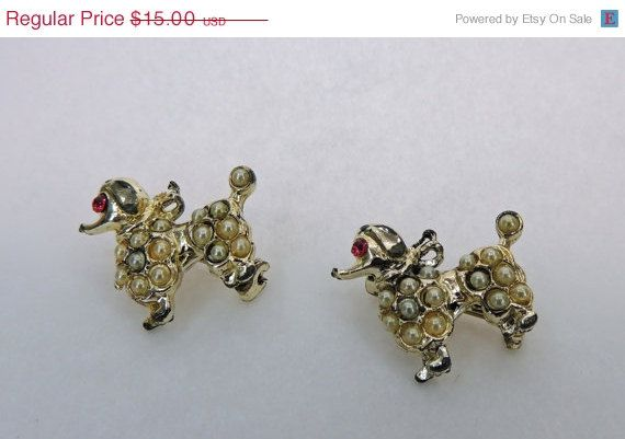 50 Sale Poodle Scatter Pins Rhinestone and Seed by DLSpecialties, $7.50