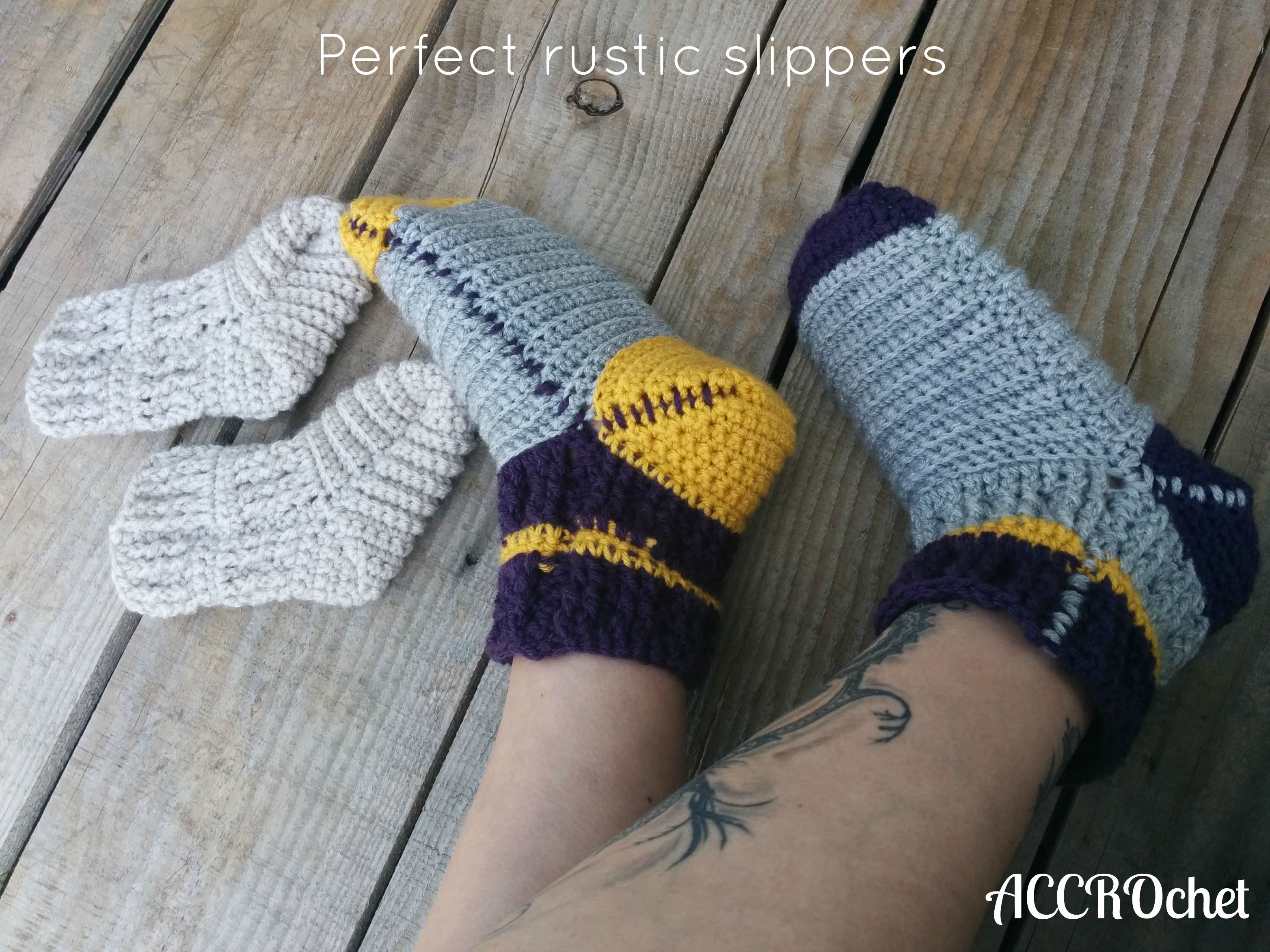New free crochet pattern perfect rustic slippers accrochet new free crochet pattern perfect rustic slippers accrochet bankloansurffo Images