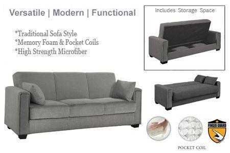 Stupendous Modern Sofa Beds Sleepers Bed Futon Sofa Microfiber Interior Design Ideas Clesiryabchikinfo