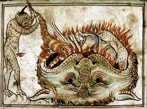 Medieval Hell Art The mouth of hell. | Images of Hell in ...