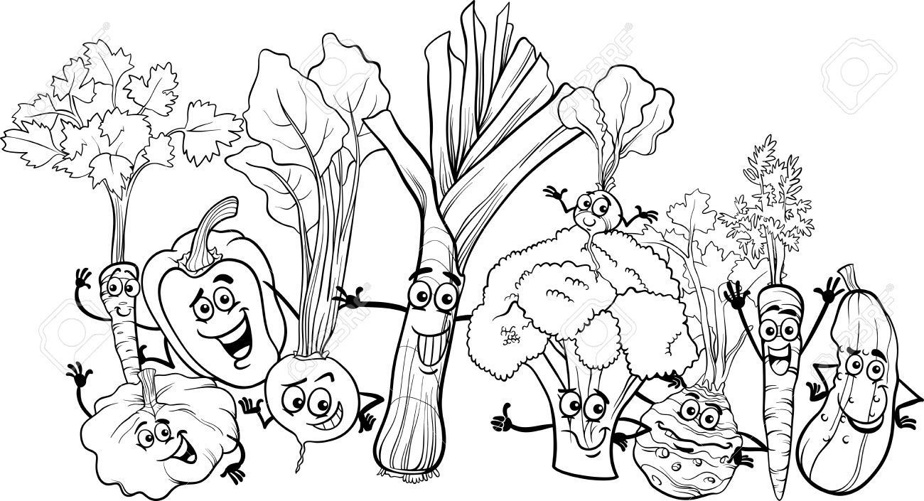 harvest-fruits-and-vegetable-coloring-pages-with-vegetable-coloring ...