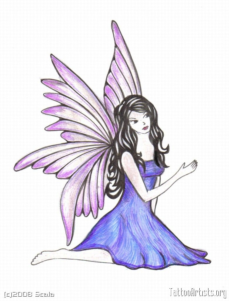 How to draw a fairy in stages 9
