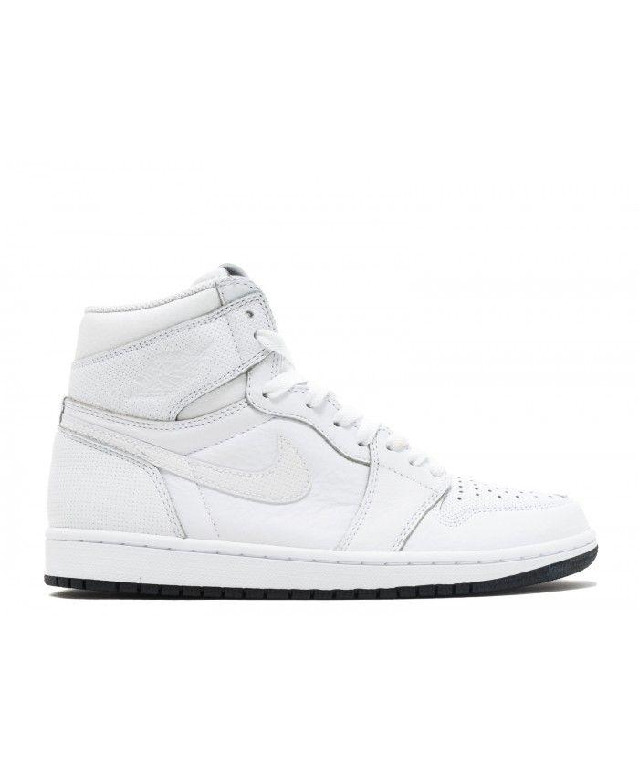 5a44c0e63f23d Air Jordan 1 Retro High Og Perforated White Black White 555088 100 ...