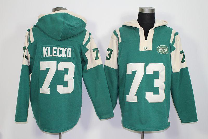 Wholesale New York Jets #73 Joe Klecko Lace Up Pullover Hooded Sweatshirt  supplier