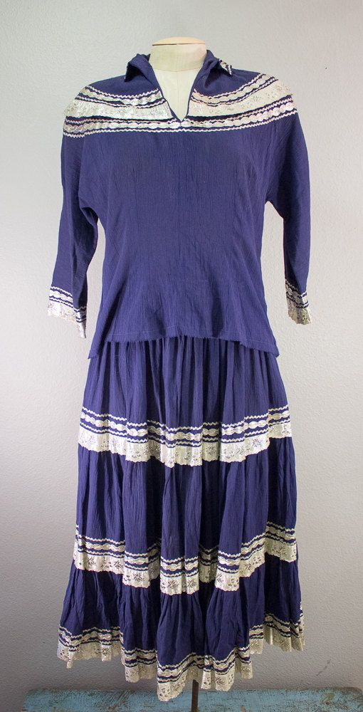 Vintage Original One of a Kind Dance Outfit, Two piece Ensemble with ...